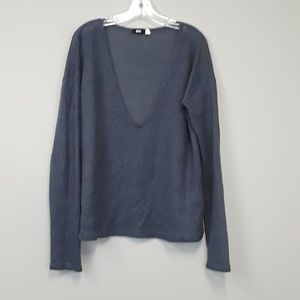 BDG UO gray wool blend v neck pullover sweater
